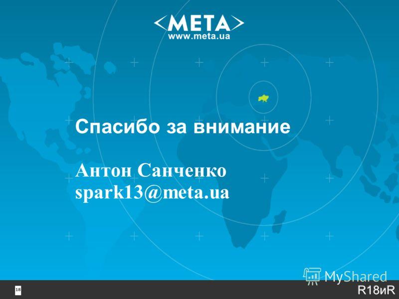 18 Спасибо за внимание Антон Санченко spark13@meta.ua