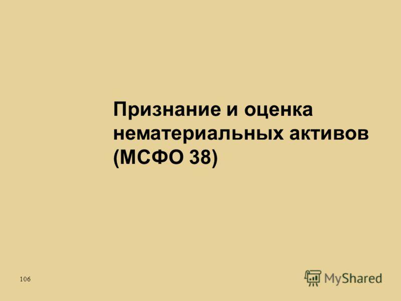 106 Признание и оценка нематериальных активов (МСФО 38)