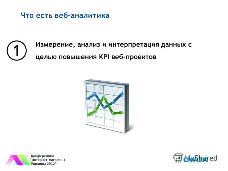 Что есть веб-аналитика Измерение, анализ и интерпретация данных с целью повышения KPI веб-проектов