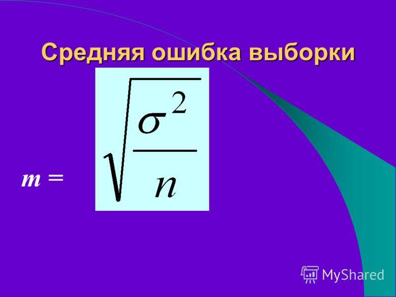 Средняя ошибка выборки m =