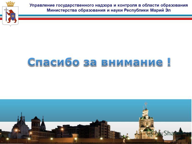 Управление государственного надзора и контроля в области образования Министерства образования и науки Республики Марий Эл