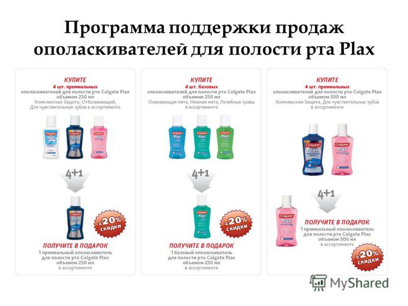 Программа поддержки продаж ополаскивателей для полости рта Plax