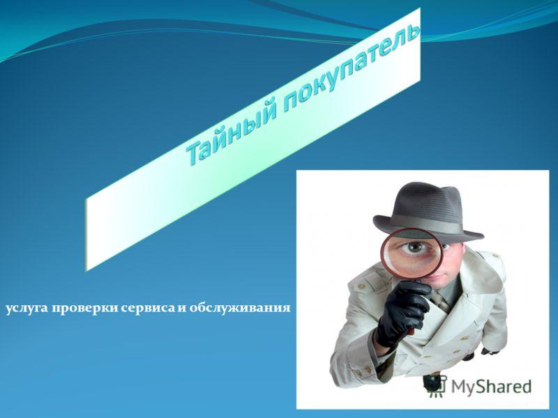 услуга проверки сервиса и обслуживания