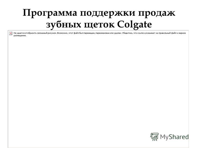 Программа поддержки продаж зубных щеток Colgate