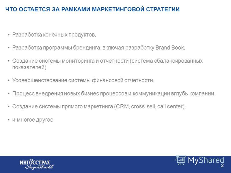1 КЛЮЧЕВЫЕ ЭЛЕМЕНТЫ ПОСТРОЕНИЯ МАРКЕТИНГОВОЙ СТРАТЕГИИ Комплексная маркетинговая стратегия включает в себя следующие элементы: сегментация рынка, анализ портфеля продуктов, каналов покупки и предпочтений при выборе бренда потребителями рыночные приор