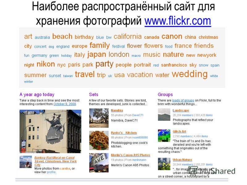 Фотография в Интернете или онлайн-сервисы для хранения фотографий