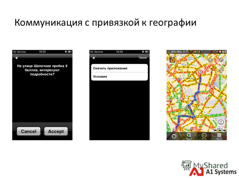 Коммуникация с привязкой к географии