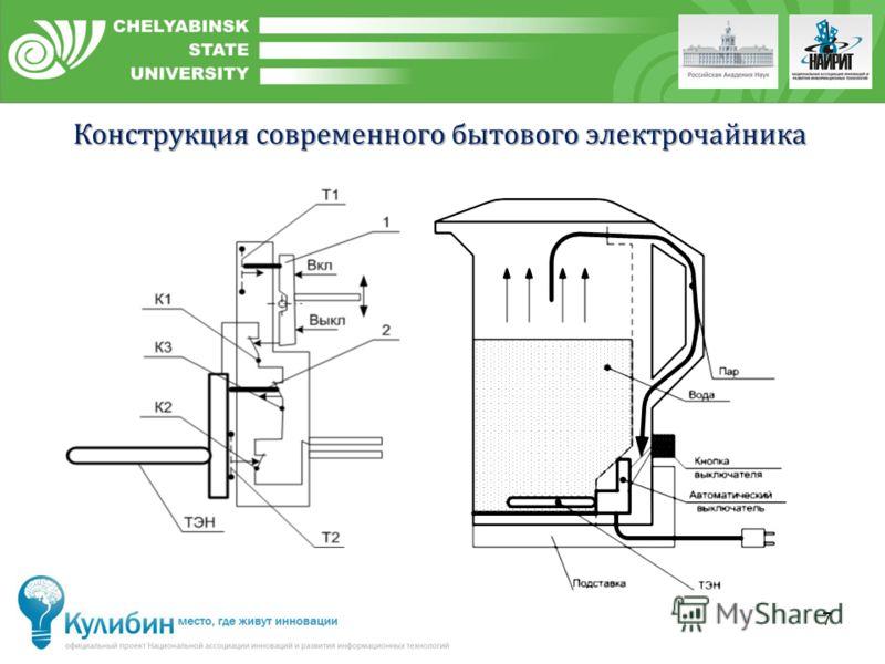 7 Конструкция современного бытового электрочайника