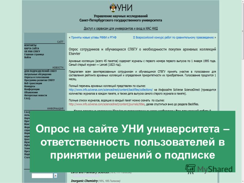 9/2/2012 Template from www.brainybetty.com15 Опрос на сайте УНИ университета – ответственность пользователей в принятии решений о подписке