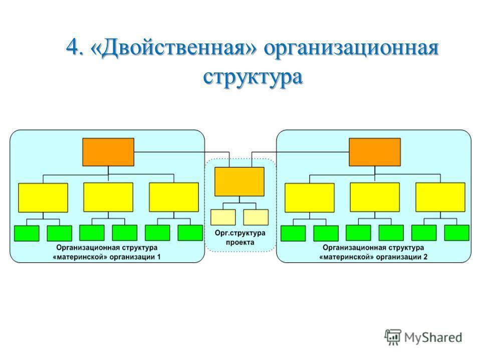 4. «Двойственная» организационная структура