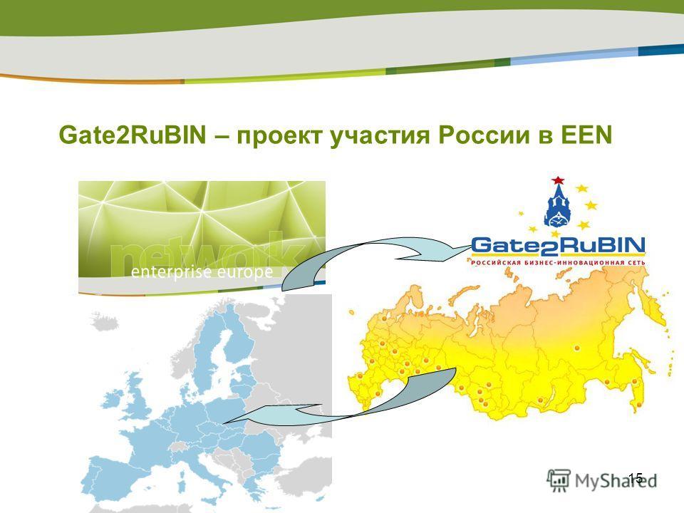 15 Gate2RuBIN – проект участия России в EEN
