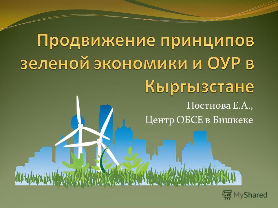 Постнова Е.А., Центр ОБСЕ в Бишкеке