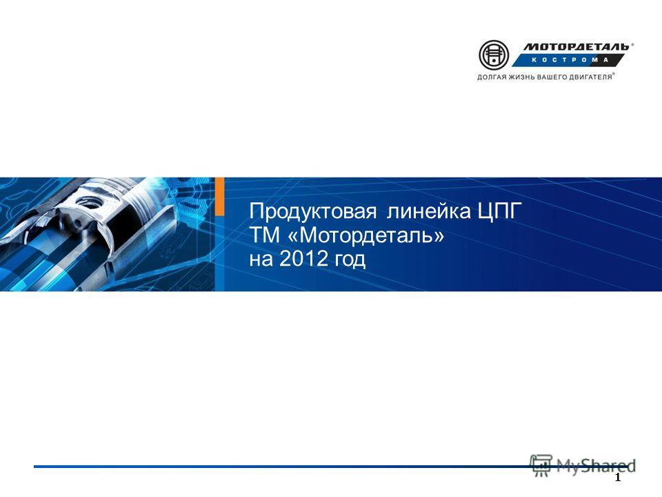 1 Продуктовая линейка ЦПГ ТМ «Мотордеталь» на 2012 год