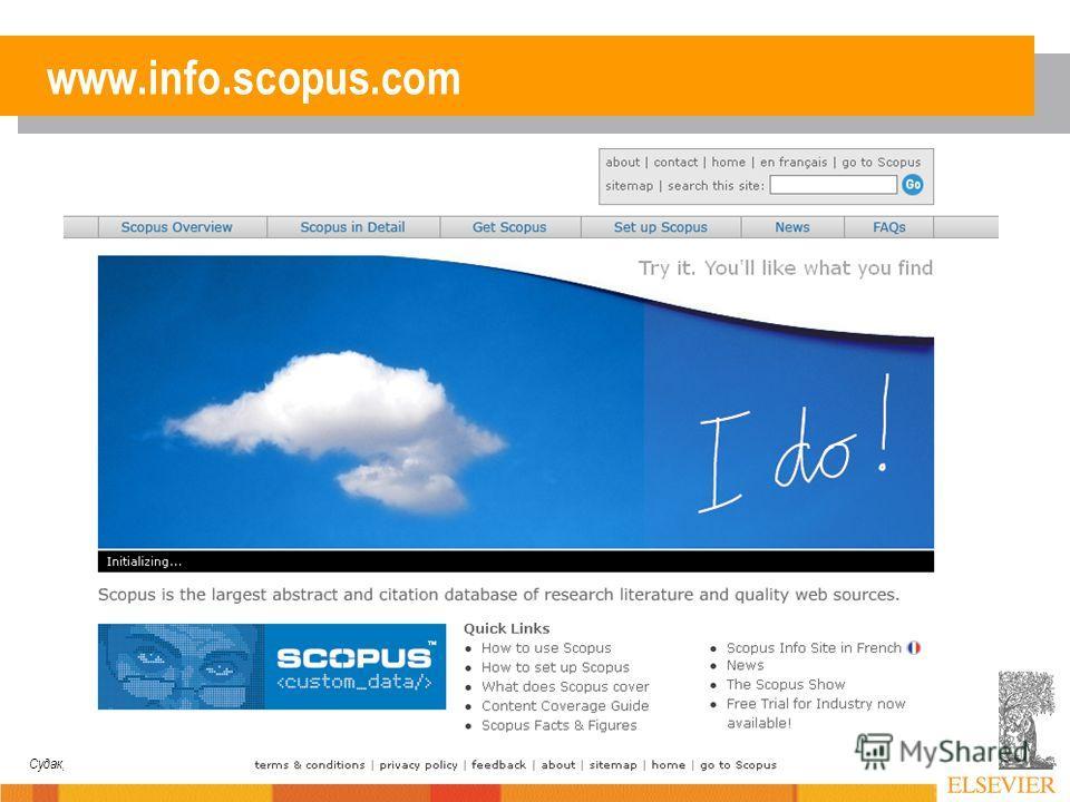 Судак, 2007 www.info.scopus.com