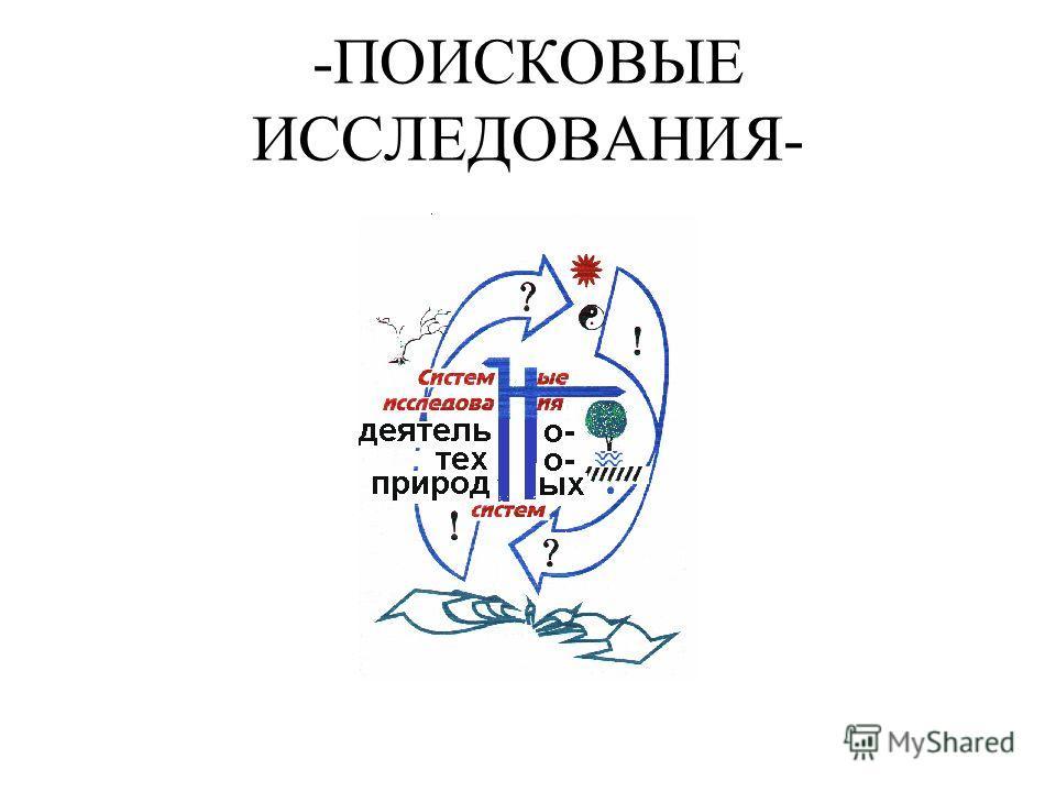 -ПОИСКОВЫЕ ИССЛЕДОВАНИЯ-