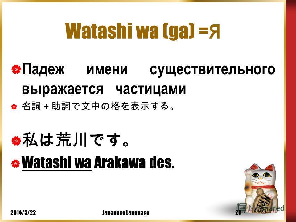 2014/5/22Japanese Language27 Скажите по-японски 17 Я делаю покупки на базаре вместе с мамой. мама = haha базар = bazaaru делать покупки = kaimono o shimas Watashi wa haha to bazaaru de kaimono o shimas.