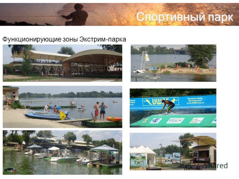 Спортивный парк Функционирующие зоны Экстрим-парка