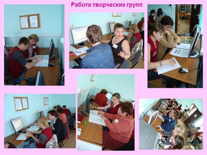 Работа творческих групп