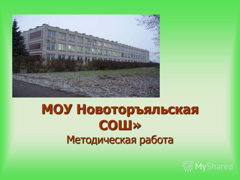 МОУ Новоторъяльская СОШ» Методическая работа