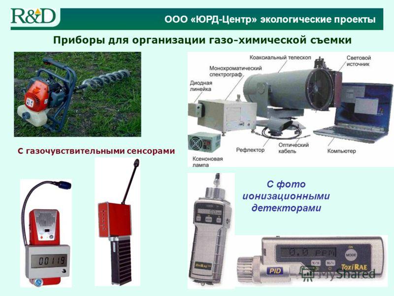 Приборы для организации газо-химической съемки С газочувствительными сенсорами С фото ионизационными детекторами ООО «ЮРД-Центр» экологические проекты