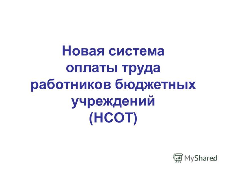 1 Новая система оплаты труда работников бюджетных учреждений (НСОТ)