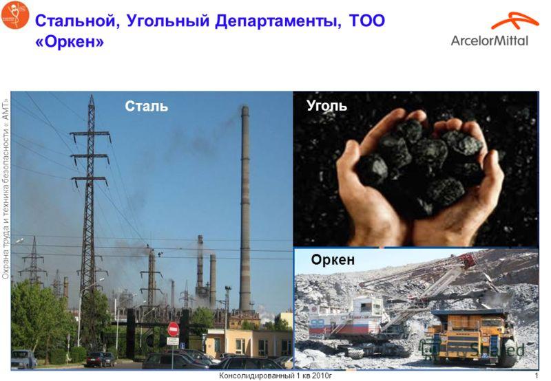 « АрселорМиттал Темиртау» Итоги работы по охране труда и техника безопасности в 1 квартале 2010г Казахстан апрель 2010