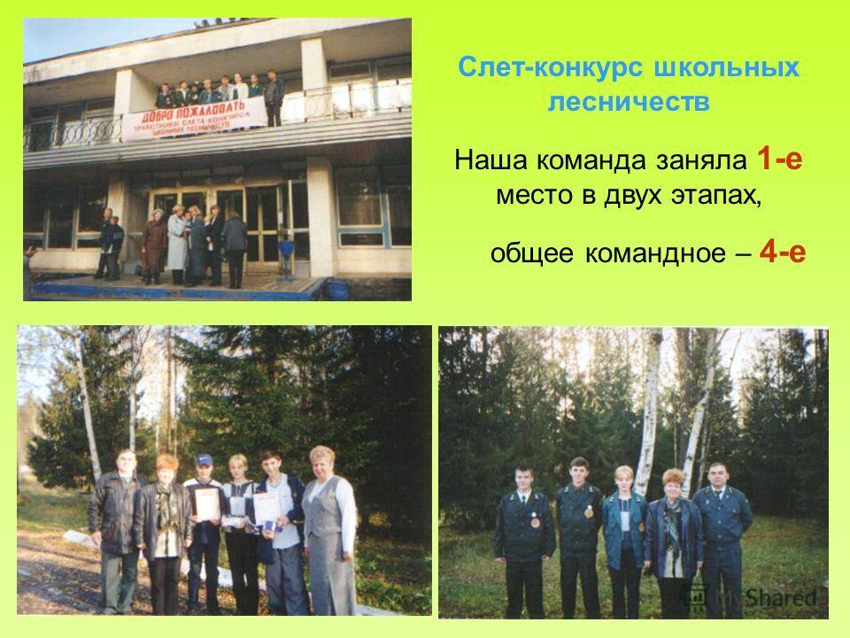 Слет-конкурс школьных лесничеств Наша команда заняла 1-е место в двух этапах, общее командное – 4-е