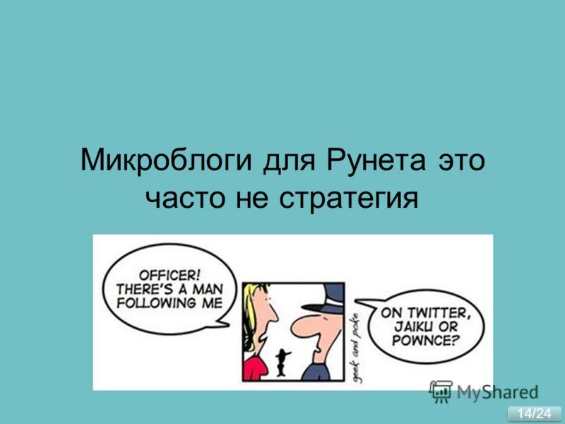 14/24 Микроблоги для Рунета это часто не стратегия