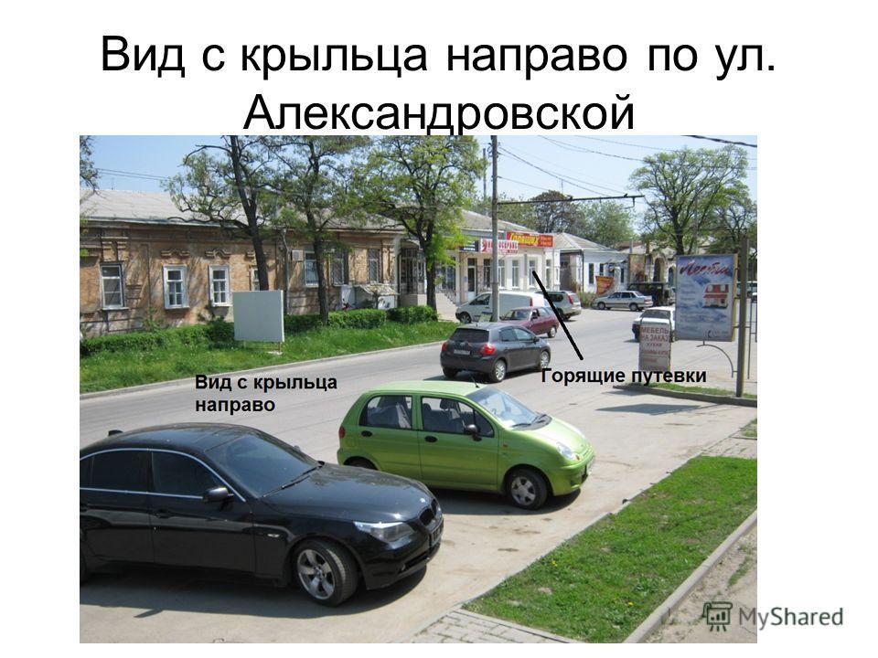 Вид с крыльца направо по ул. Александровской