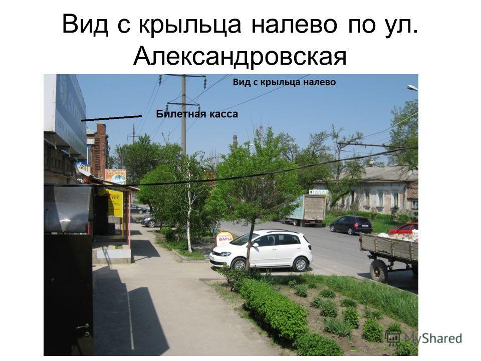 Вид с крыльца налево по ул. Александровская