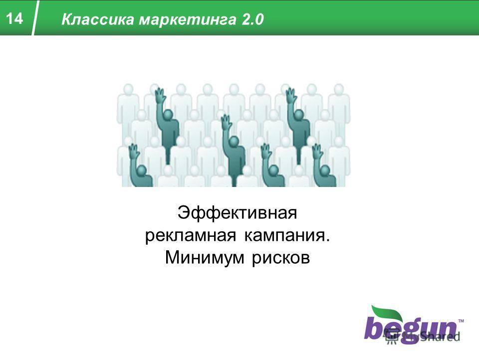 14 Классика маркетинга 2.0 Эффективная рекламная кампания. Минимум рисков