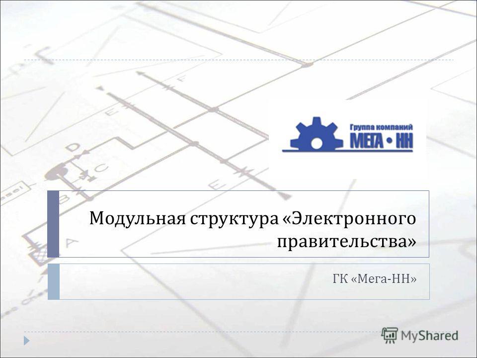 Модульная структура « Электронного правительства » ГК « Мега - НН »