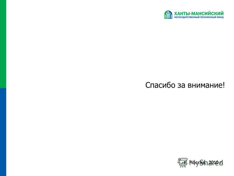 Спасибо за внимание! г. Москва, 2010 г.