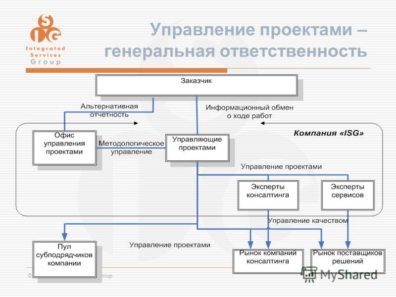 © 2007, Integrated Services Group Управление проектами – генеральная ответственность