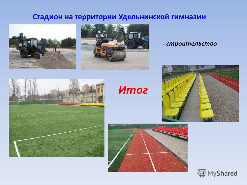 Стадион на территории Удельнинской гимназии - строительство Итог