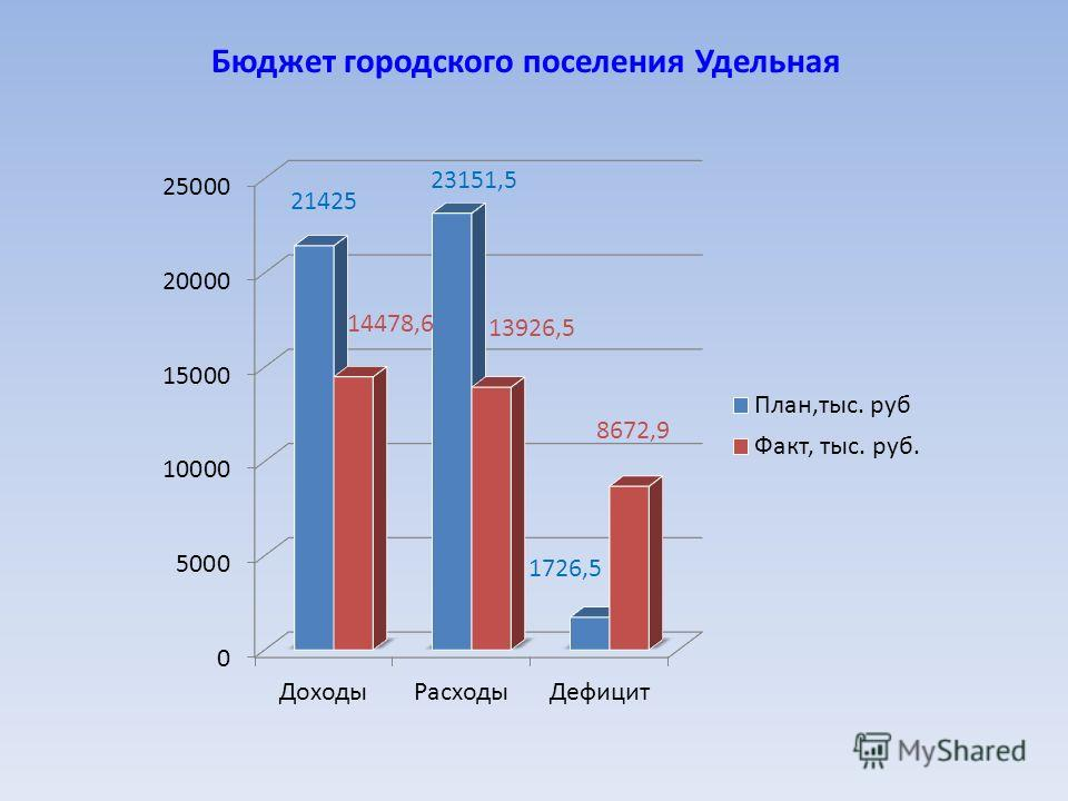 Бюджет городского поселения Удельная