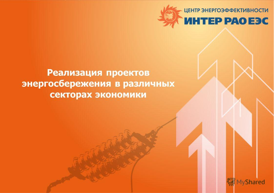 Реализация проектов энергосбережения в различных секторах экономики