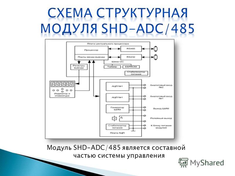 Модуль SHD-ADC/485 является составной частью системы управления