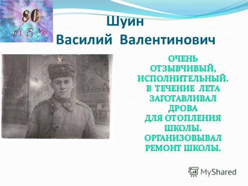 Шуин Василий Валентинович