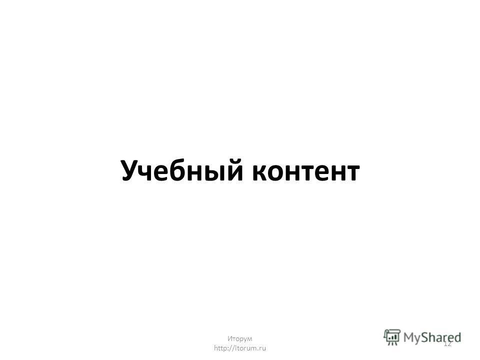 Учебный контент Иторум http://itorum.ru 12
