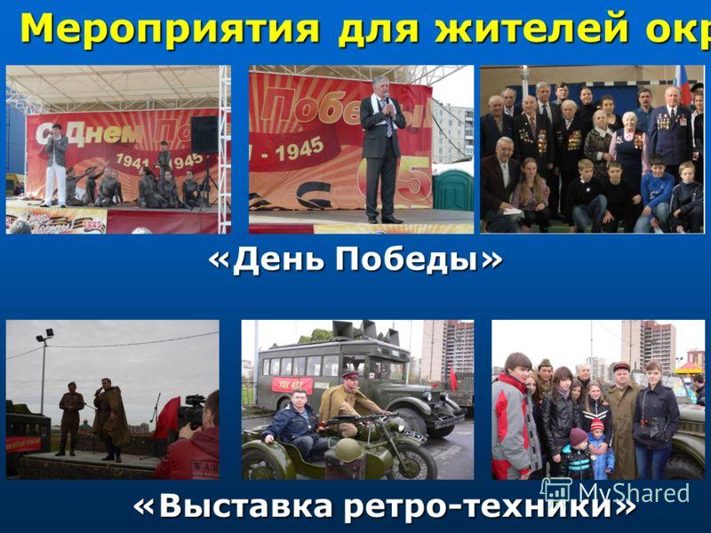 «День Победы» Мероприятия для жителей округа «Выставка ретро-техники»