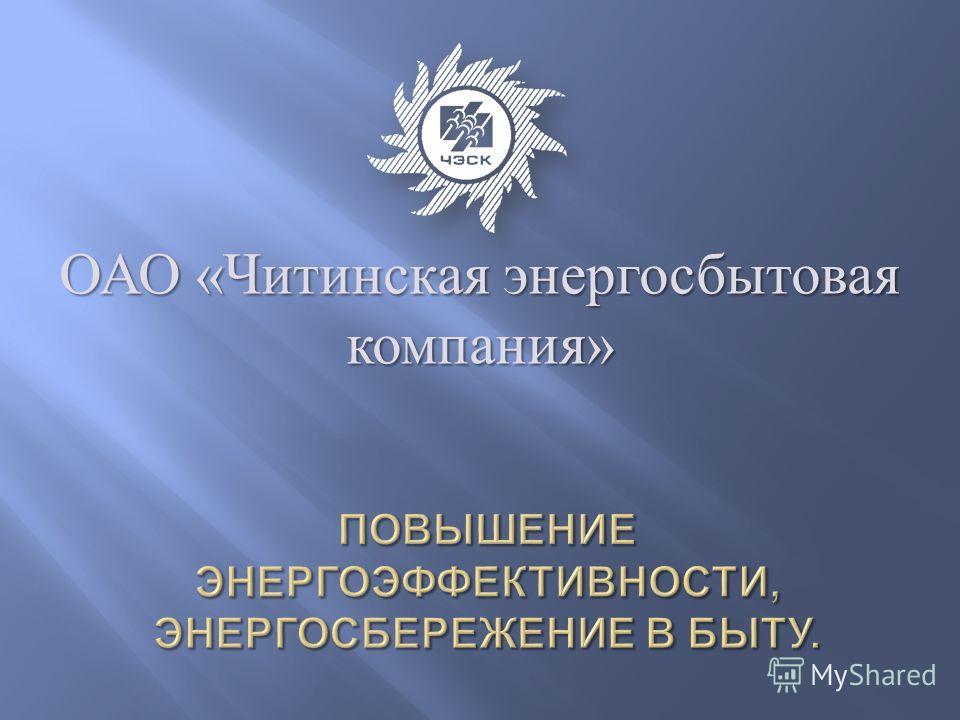 ОАО « Читинская энергосбытовая компания »