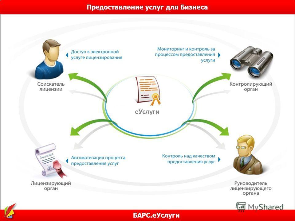 Предоставление услуг для Бизнеса БАРС.еУслуги еУслуги