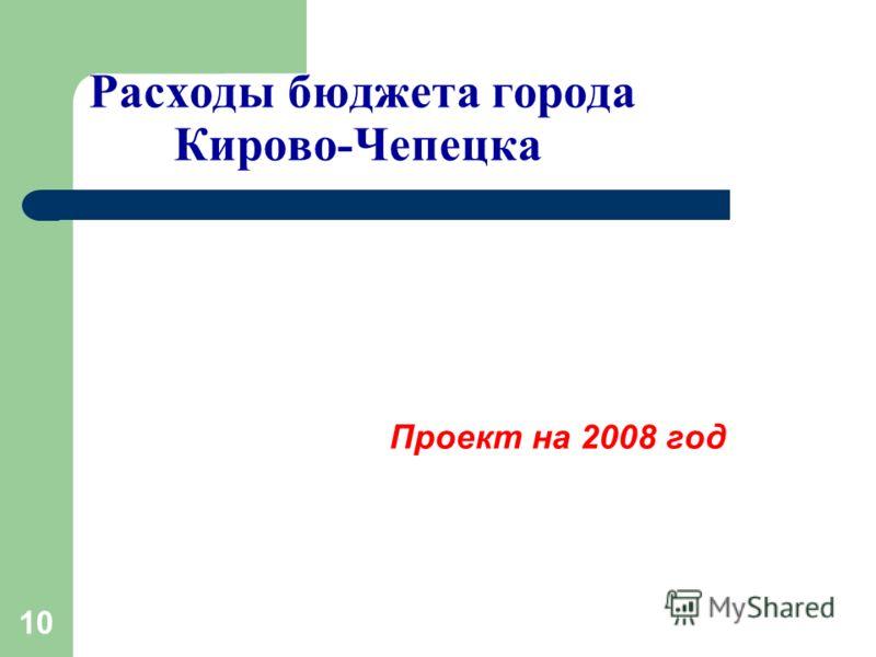 10 Расходы бюджета города Кирово-Чепецка Проект на 2008 год