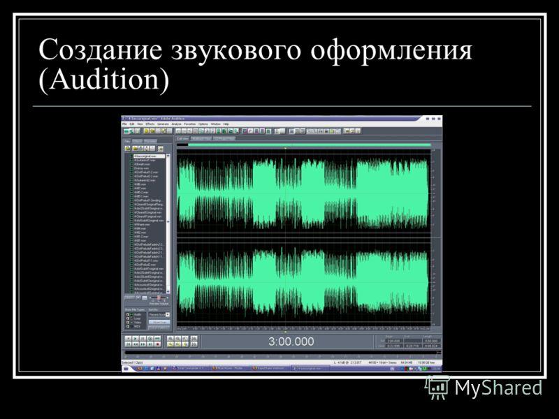 Создание звукового оформления (Audition)