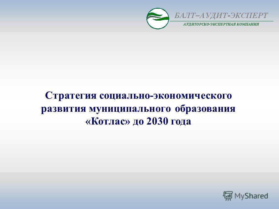 Стратегия социально-экономического развития муниципального образования «Котлас» до 2030 года
