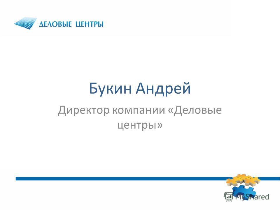 Букин Андрей Директор компании «Деловые центры»