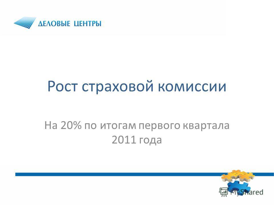 Рост страховой комиссии На 20% по итогам первого квартала 2011 года