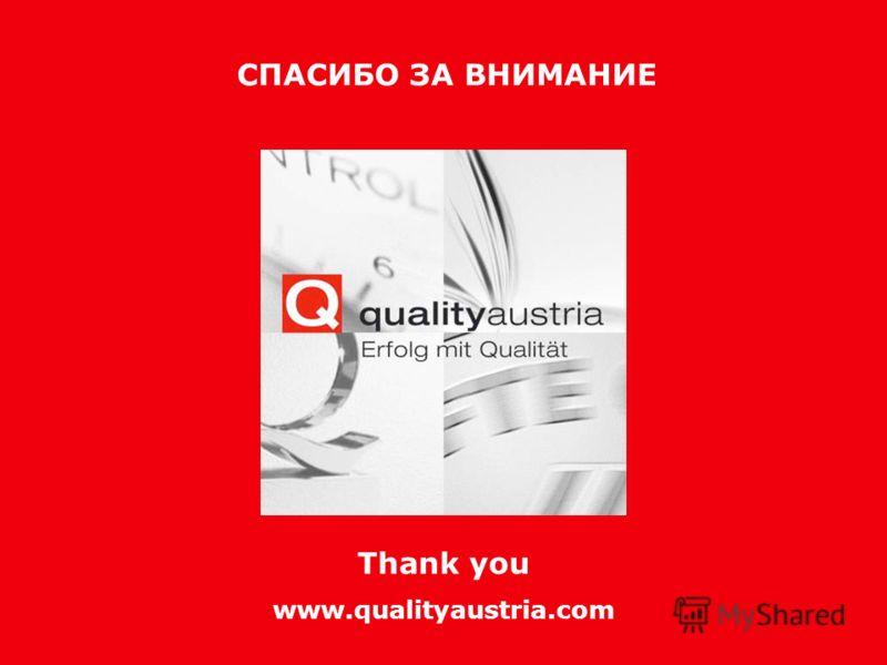 Возвращение качества. Возвращение к качеству Thank you www.qualityaustria.com СПАСИБО ЗА ВНИМАНИЕ