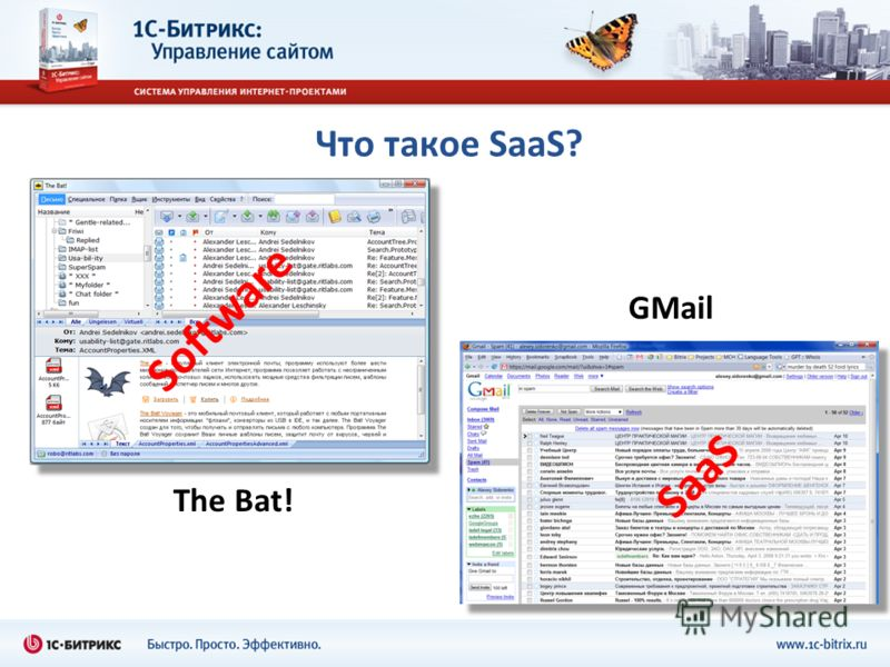 Что такое SaaS? The Bat! GMail Software SaaS